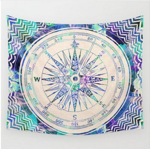 Bohemian Mandala Tapestry - Purple/Blue Compass