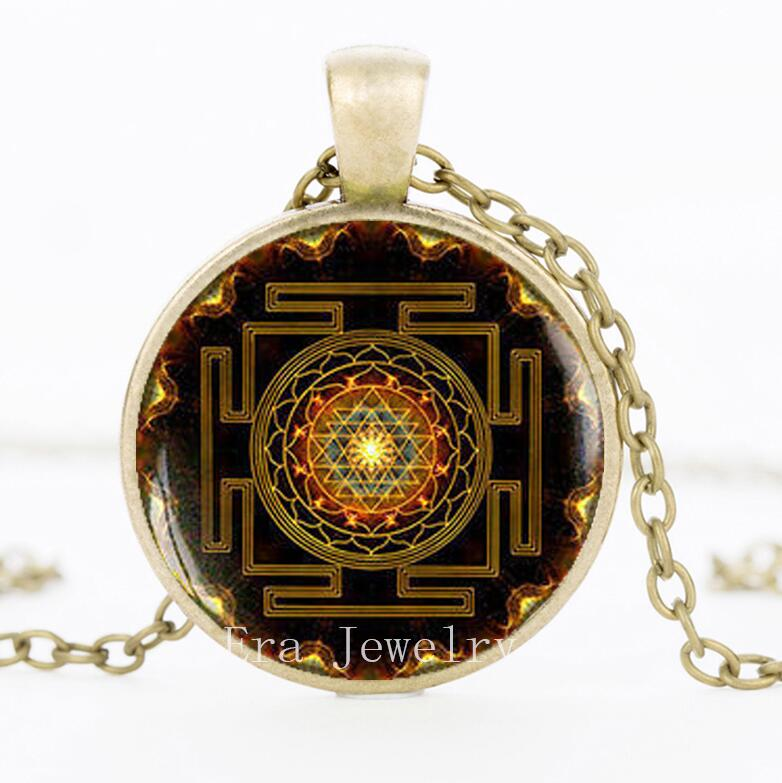 Sri Yantra Meditation Pendant - Growth and Healing