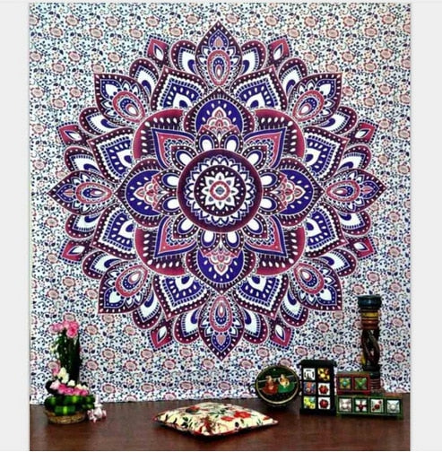 Bohemian Mandala Tapestry - Purple Lotus