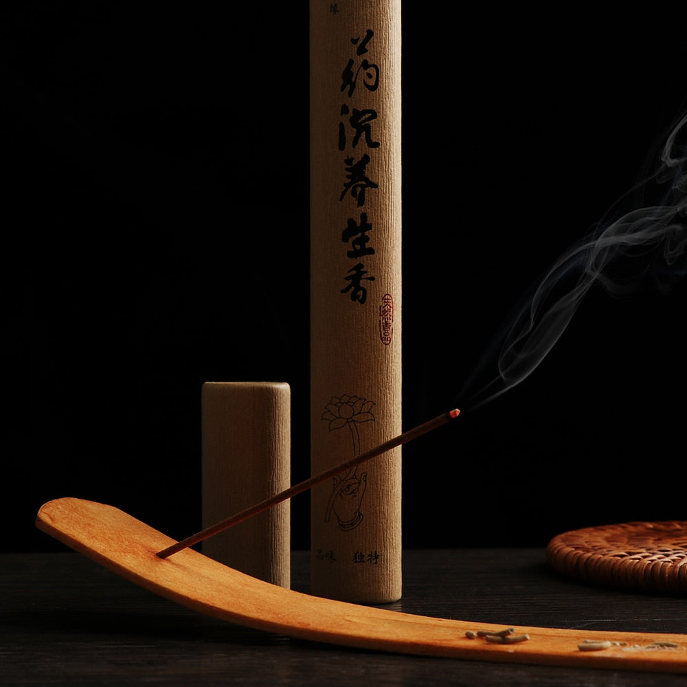 1. Elegant Natural Wooden Incense Burner Stick