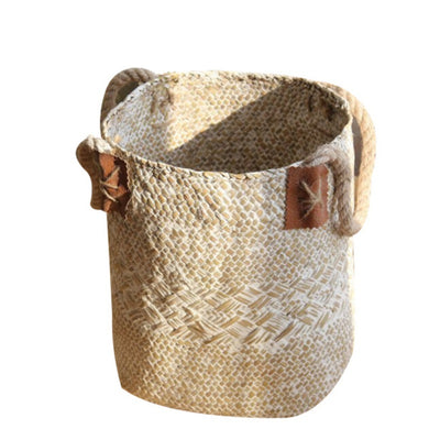 Natural Woven Seagrass Belly Storage Basket