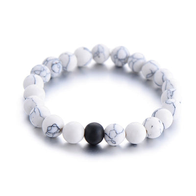 Df 53 Couples Distance Natural Stone Bracelet - 10 Colors