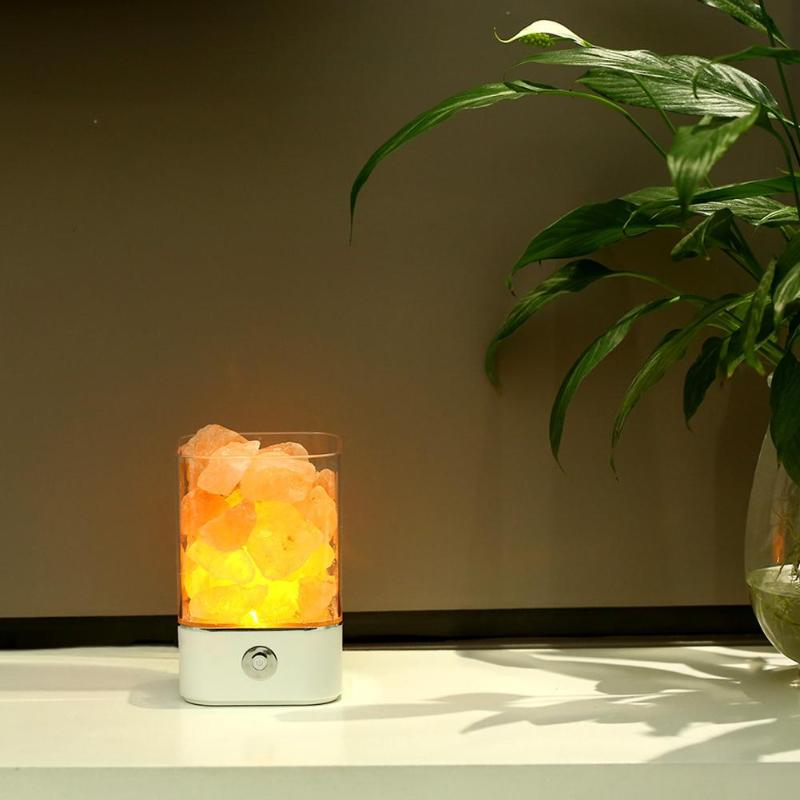 Himalayan crystal salt Lamp - the combination of Warm light and Air purifying