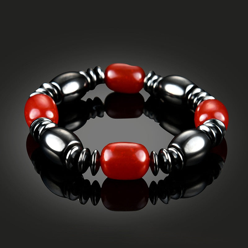Magnetic Therapy Bracelet - Black and Red Balloon