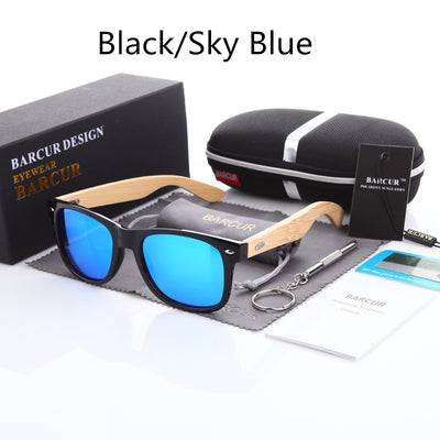 Df 142 Bamboo Polarized Sunglasses
