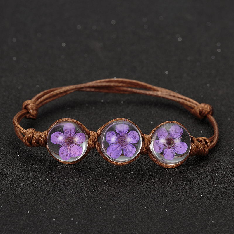 Lucky Orchid Glass Ball Bracelet - 10 Colors