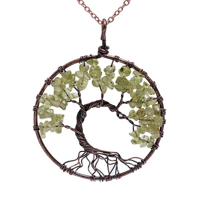 Chakra Tree Of Life Pendant Necklace [17 Colors]