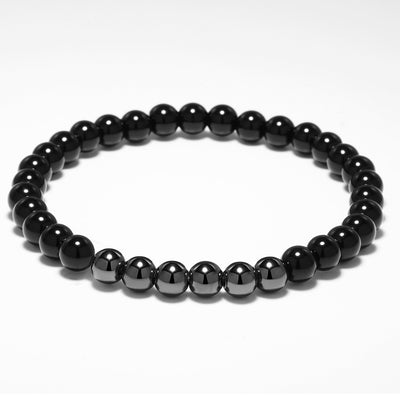 Natural Stone Skull Head Onyx Bracelet - 2 Pieces