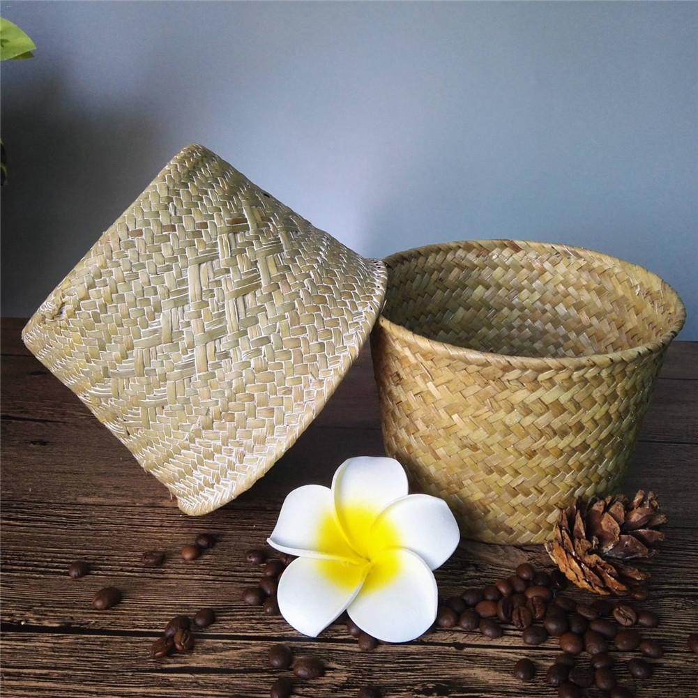 Df 123 Rattan Grass Storage Basket Handmade