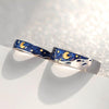 Gold Moon Van Gogh's Enamel Rings