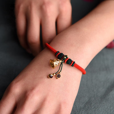 Df Handmade Ethnic Lucky Energy Bracelet - Ring the bell of Happiness