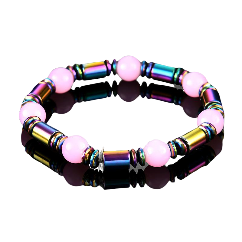 Magnetic Therapy Bracelet - Cherry Blossom Pink