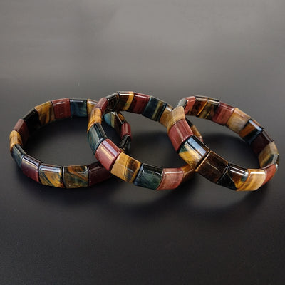 Df Colorful Tiger Eyes Stone Bracelet