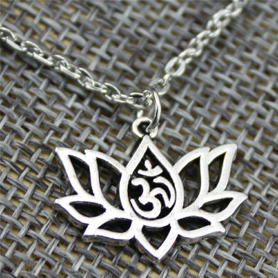 Lotus & Om Purity Charm Necklace