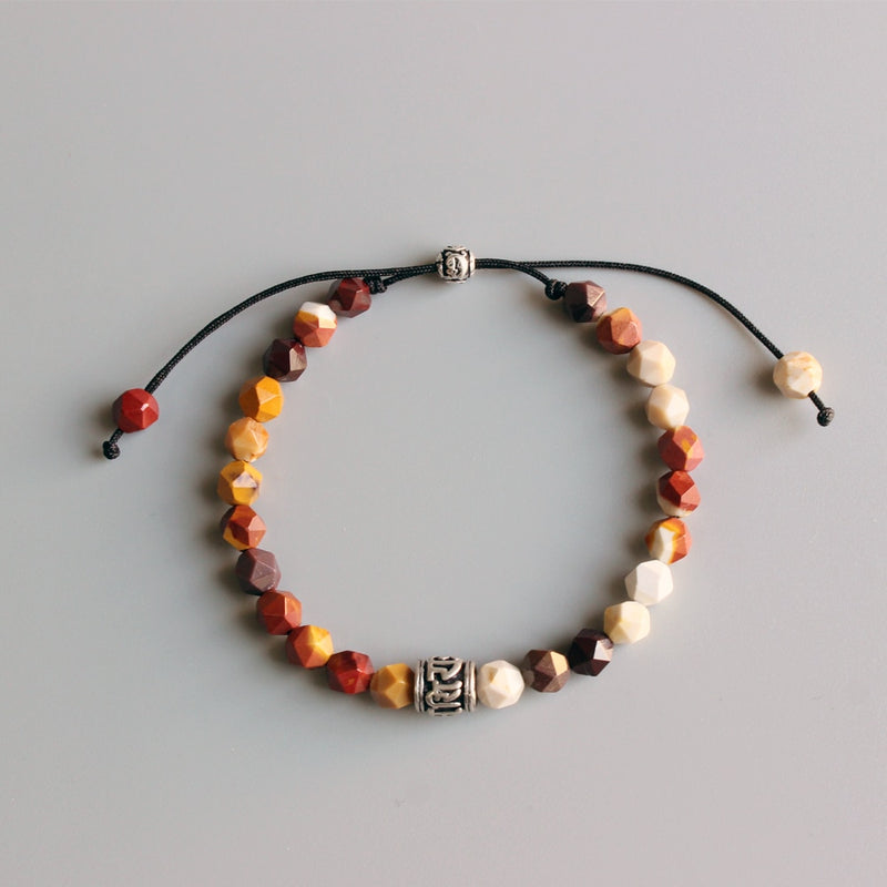 Df 58 Tibetan Beads Bracelet -  Six True Mantra Words