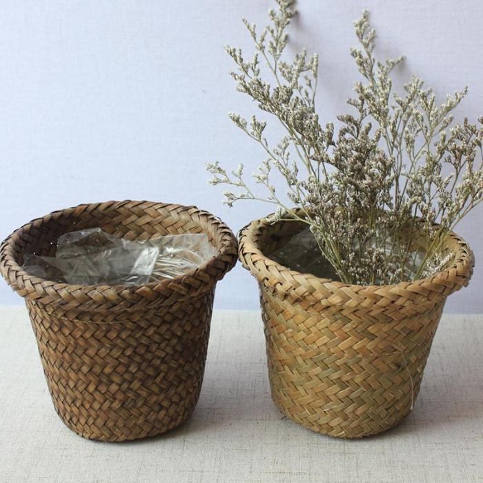 Seagrass Garden Flower Pot