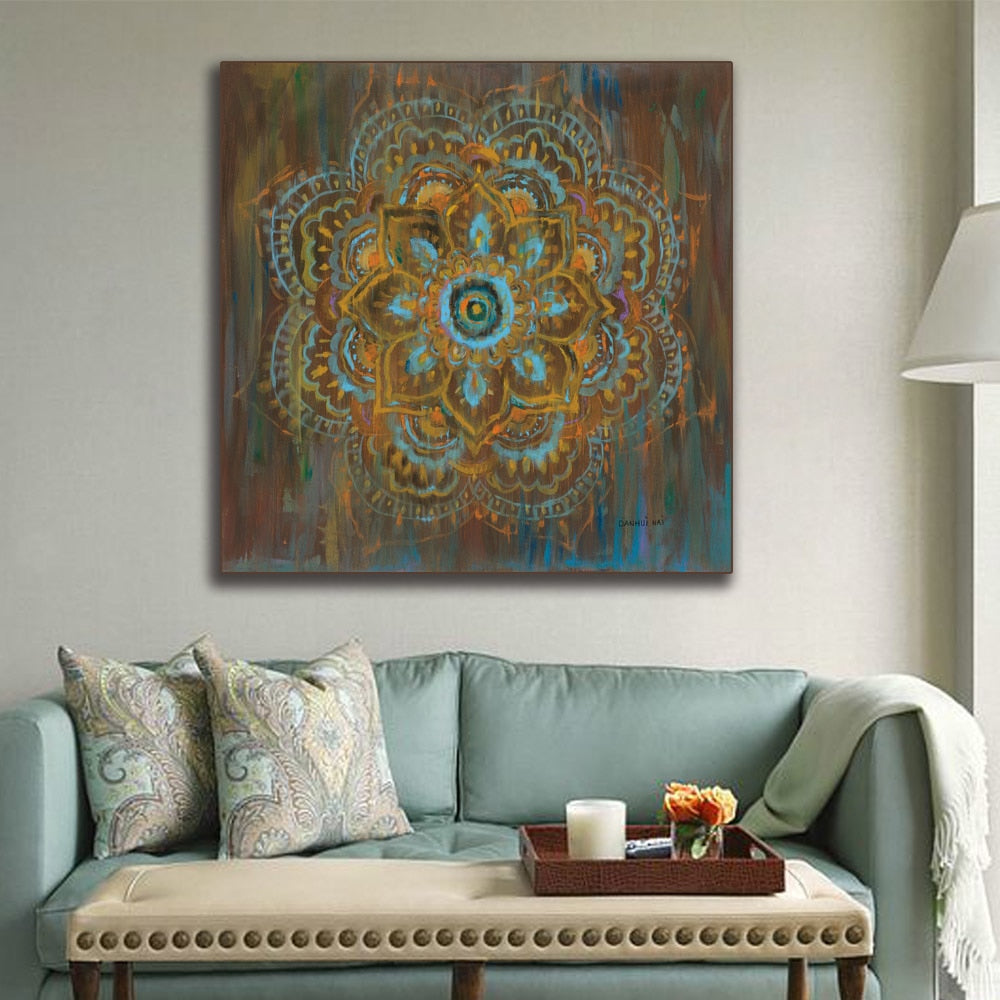 Df 89 Zen Mandala Canvas painting