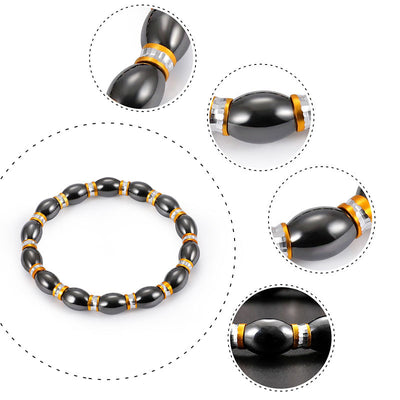Magnetic Therapy Bracelet - Black and Tumeric Yellow