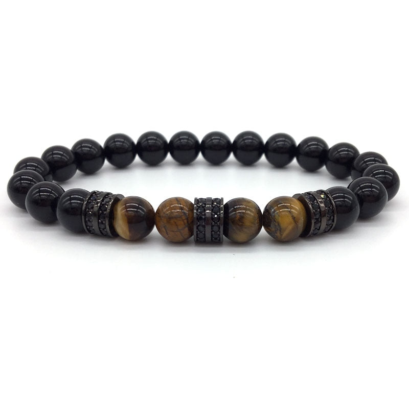 Fashionable Tiger Eye Beaded Bracelet - 8 Styles