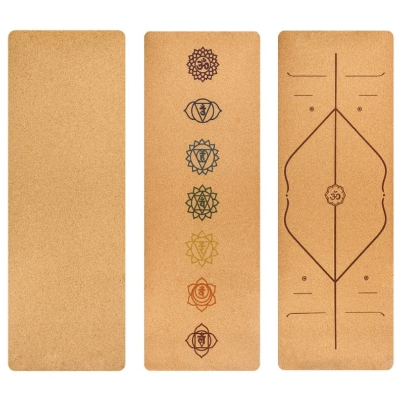 Df 114 Cork Rubber Non Slip Yoga Mat