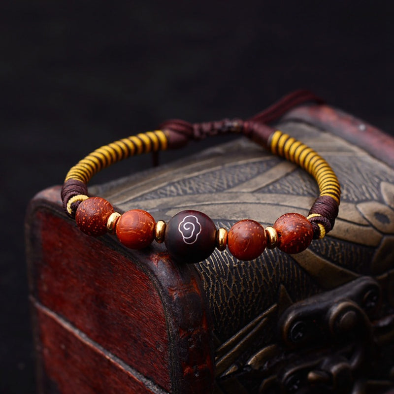Df Ethnic Meditation Wood Bracelet