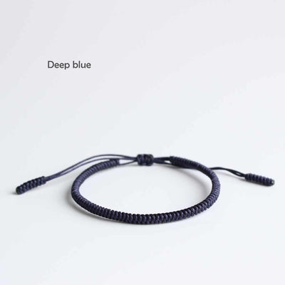 Blue Cyan Tibetan Braided Lucky Bracelet - Blessed Best Friend