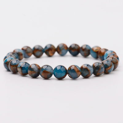 Apatite Bead Stretch Bracelet | Self Motivation (176-30)