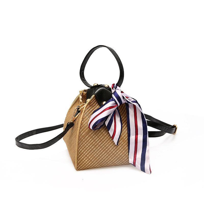 Crossbody Rattan Straw Bag