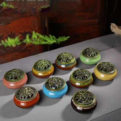 Df 18. Ceramic Incense Burners - 10 Porcelain Colors