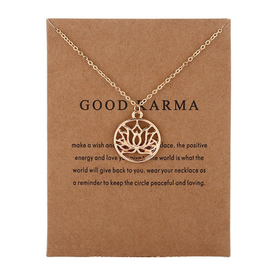 Exquisite Lotus Charm Necklace - Peaceful and Loving