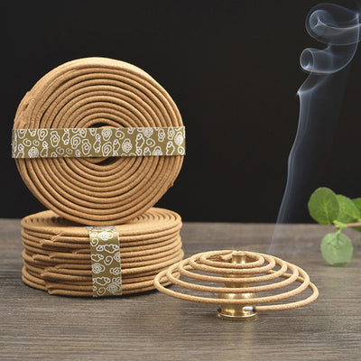 Df 19. Natural Sandalwood Incense Home Fragrance Coil Incense Spice Antiseptic Refreshing 48 Coils
