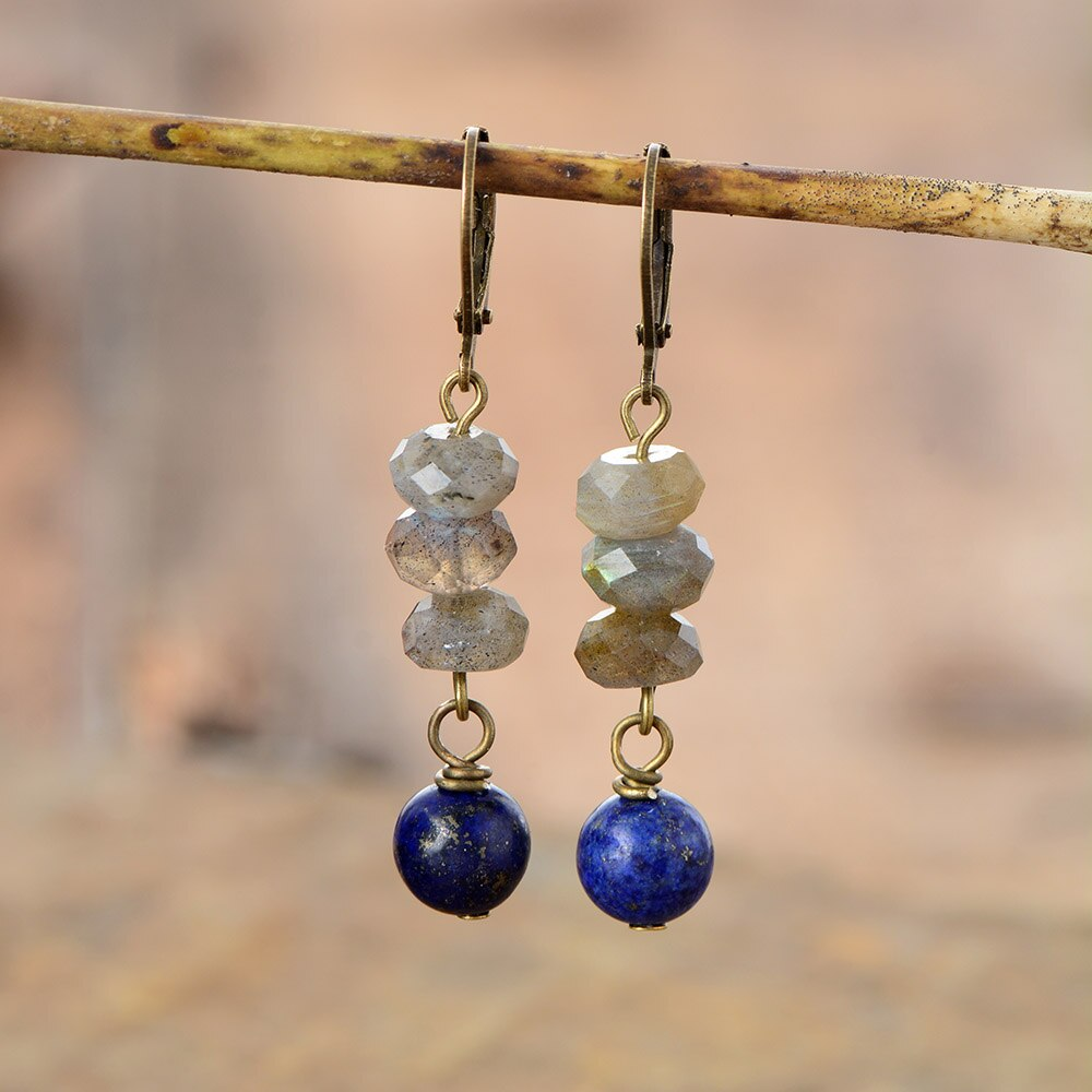 Celestial Deep Blue Dangle Earrings