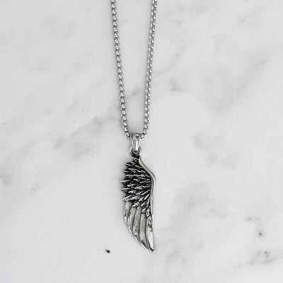 Vintage Feather Angel Wing Necklace [2 Colors]