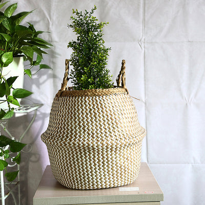 HANDMADE SEAGRASS STRAW BASKETS - 5 colors
