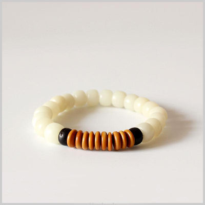 Df 62 Natural White Bodhi Seed Coconut shell Olive Nut Bracelet