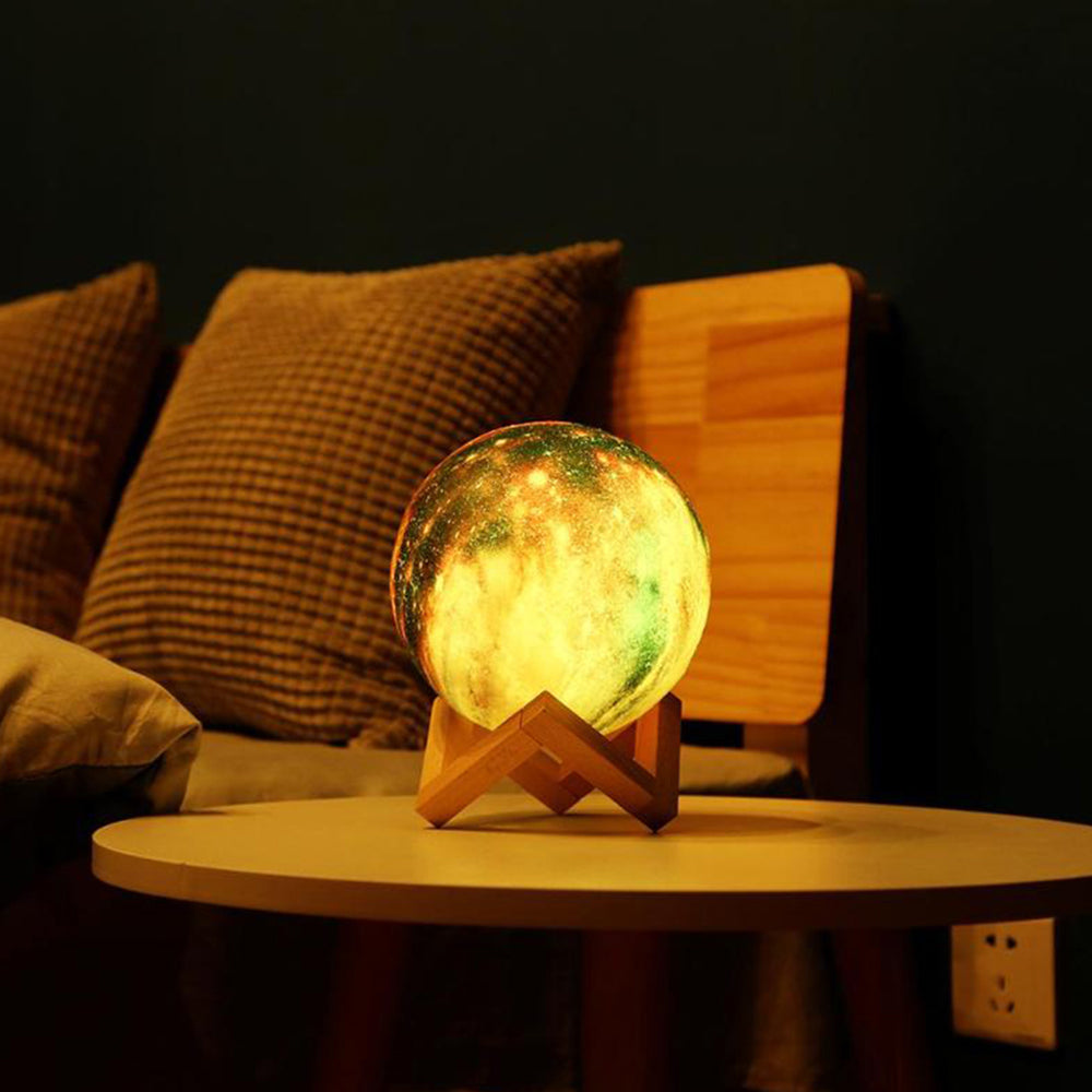 3D Printing Colorful Moon Lamp - Galaxy color emitting