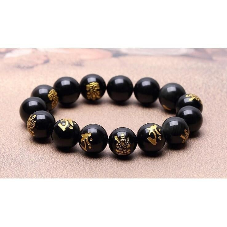 Natural Gold Printed Bracelet