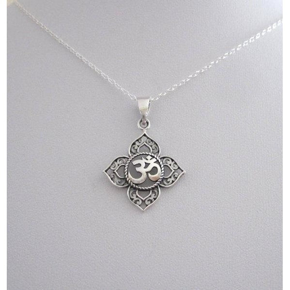 Root Chakra OM Charm Necklace