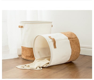 Waterproof Two Toned Laundry Basket