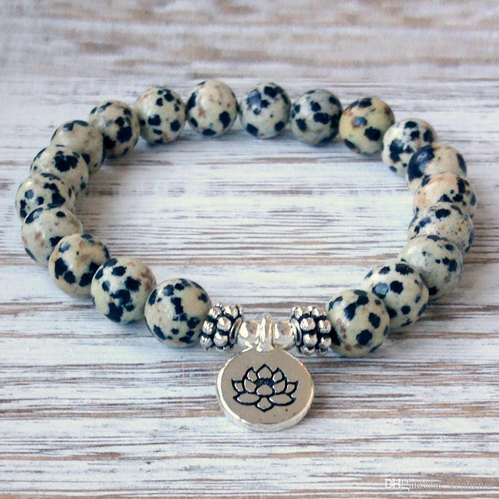 Adorable Dalmatian Jasper Bracelet - Loyalty