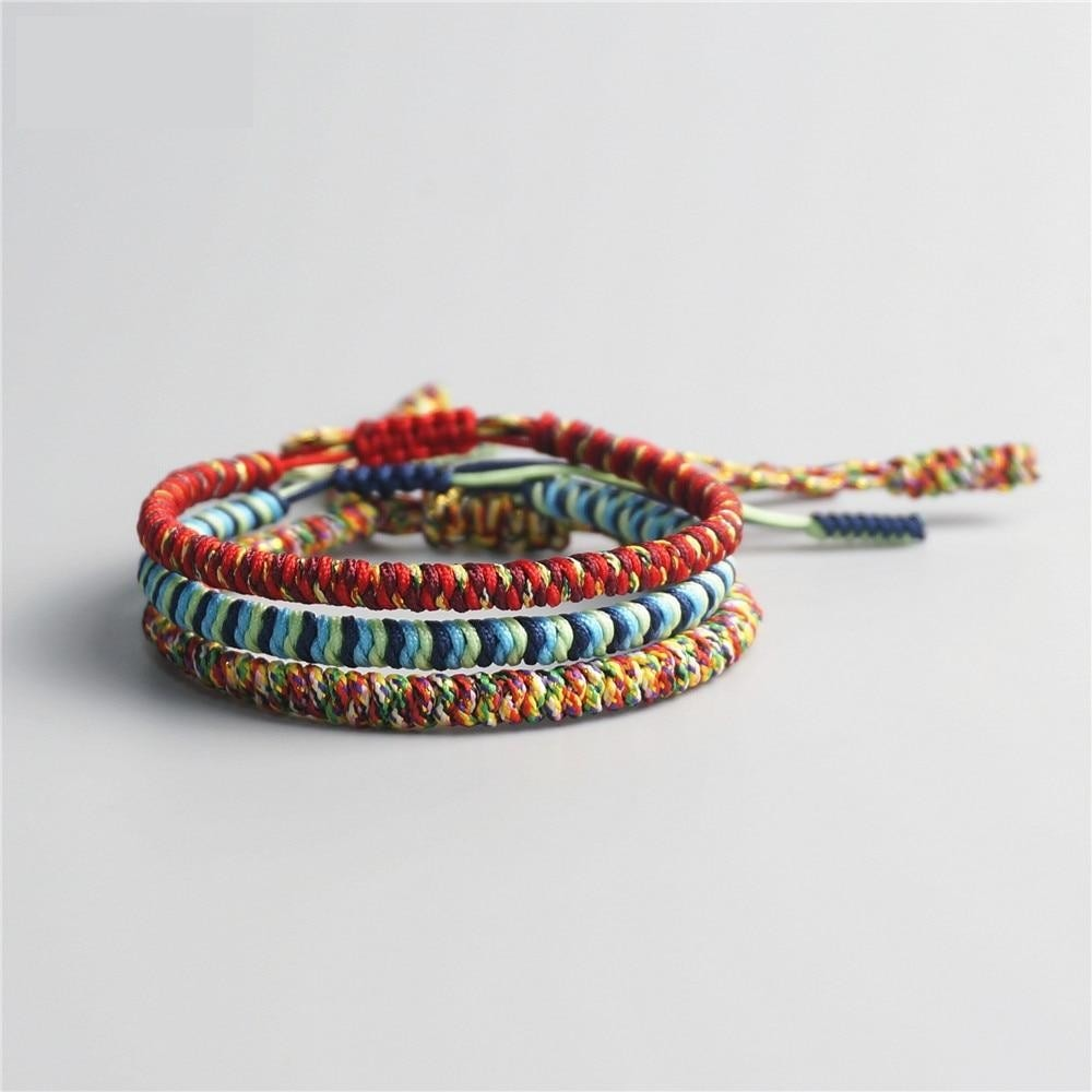 Tibetan Handmade Lucky Bracelet - 3 Colors mixed