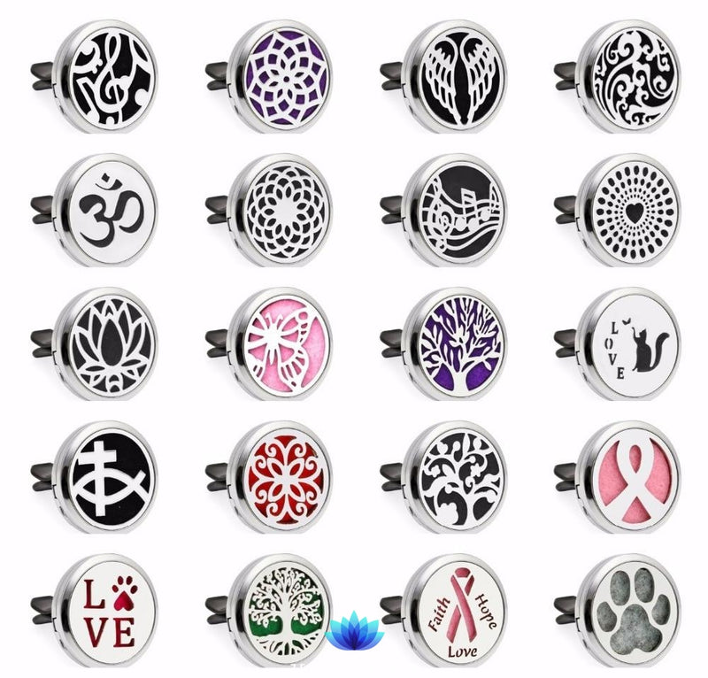 Aromatherapy Car Diffuser Locket - 10 pcs Pads Gifts