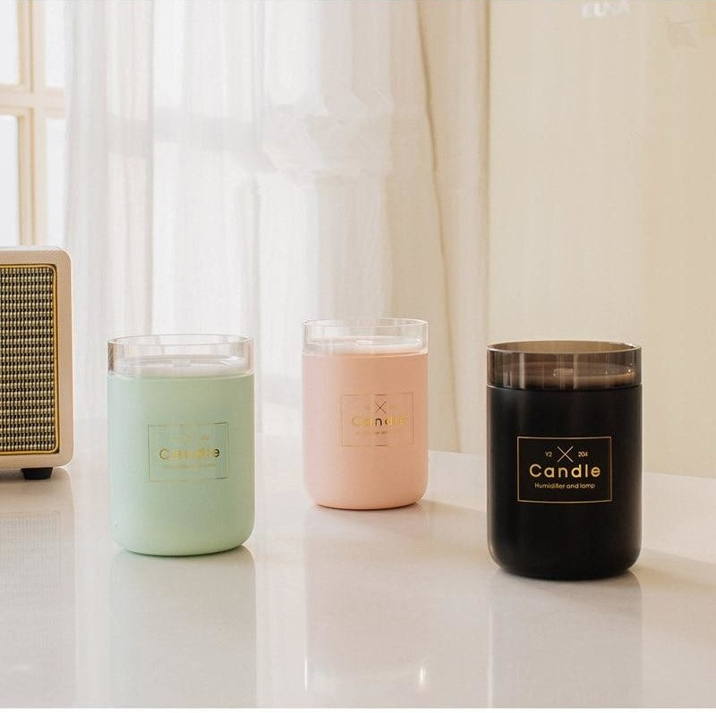 Df 41 Ultrasonic Air Humidifier Candle Romantic Soft Light USB Essential Oil Diffuser Car Purifier