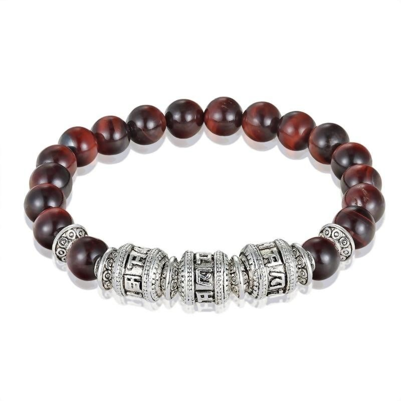 Natural Stone Six True Mantra Words Bracelet - Compassion