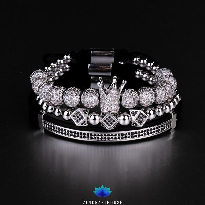 King Crown Bracelet Set (3 pieces)
