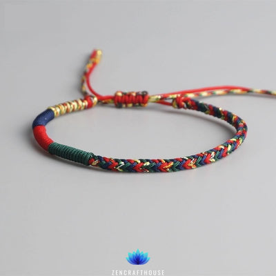 Multi-color Tibetan Lucky Charm Bracelet