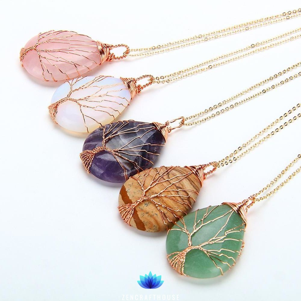 Tree of Life Copper Wire Necklace
