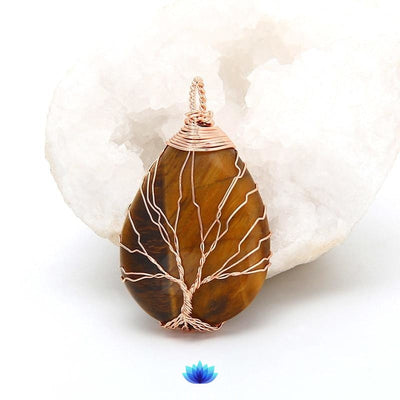 Eternity Jasper Tree of life Necklace