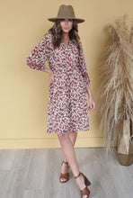 Mikarose Genevieve Rust Floral Dress