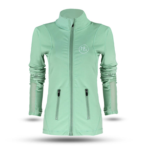 ***NEW** Sage Jacket Styled with Mesh Inserts